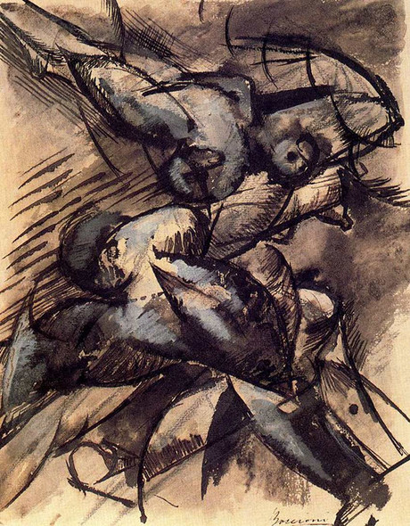 Dynamic Decomposition 1913 By Umberto Boccioni Art Reproduction from Wanford