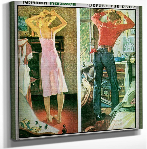 Before The Date By Norman Rockwell Art Reproduction from Wanford.