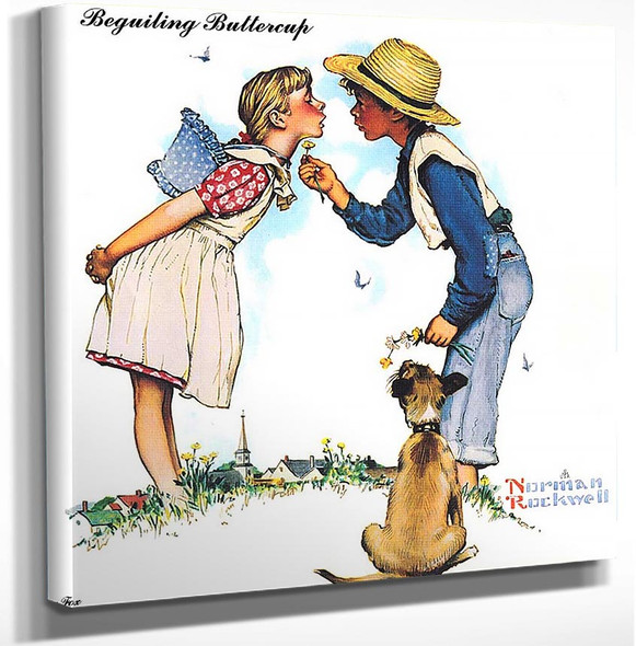 Beguiling Buttercup By Norman Rockwell Art Reproduction from Wanford.