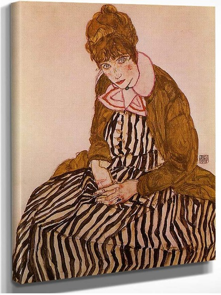 Edith Schiele Seated 1915 By Egon Schiele