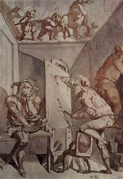 Ein Maler Mit Brille Zeichnet Einen Narren By Henry Fuseli Art Reproduction from Wanford