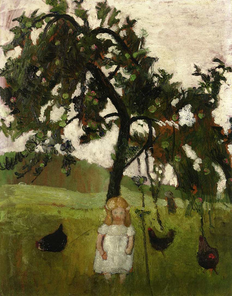 Elizabeth With Hens Under An Apple Tree By Paula Modersohn Becker Art Reproduction from Wanford