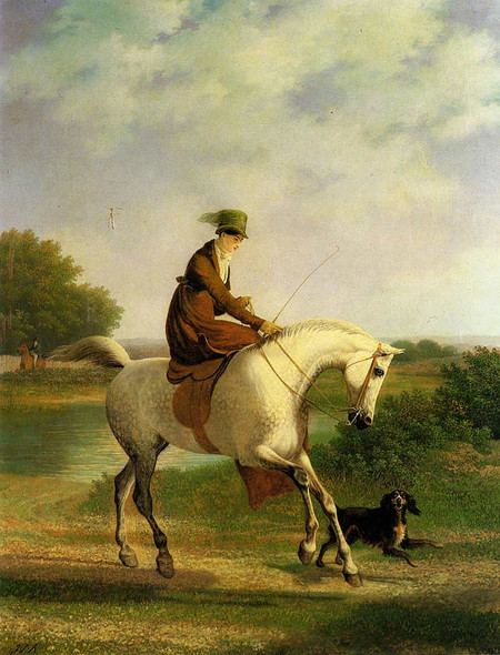 Emma Powles By Jacques Laurent Agasse Art Reproduction from Wanford