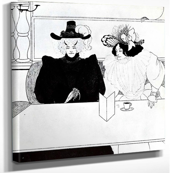 Black Coffee 1895 By Aubrey Beardsley Art Reproduction from Wanford.