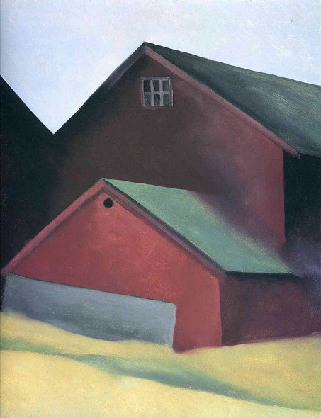 Ends Of Barns By Georgia O Keeffe Art Reproduction from Wanford