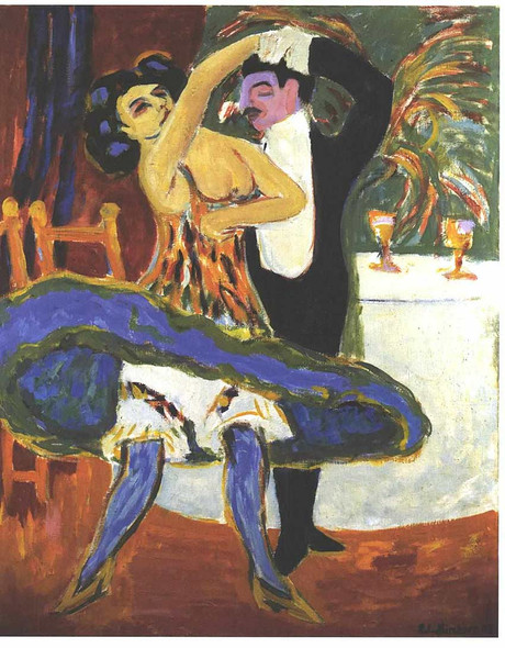 English Dance Couple 1913 By Ernst Ludwig Kirchner Art Reproduction from Wanford