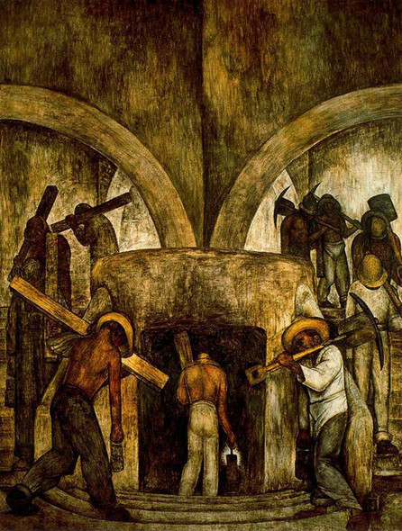 Entry Into The Mine 1923 By Diego Rivera Art Reproduction from Wanford