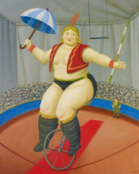 Equilibrist With Unicycle By Fernando Botero Art Reproduction from Wanford