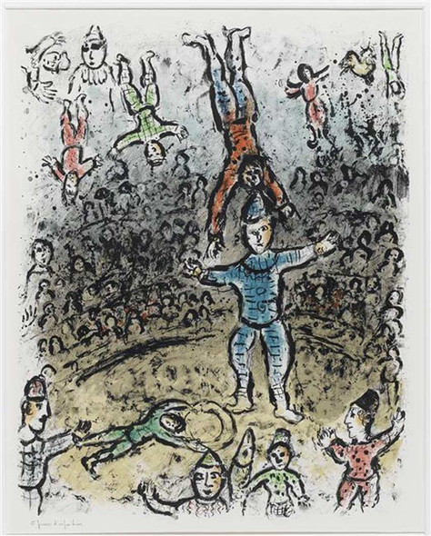 Equilibrists 1984 By Marc Chagall Art Reproduction from Wanford