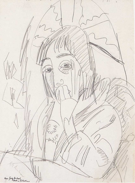 Erna Japanschirm By Ernst Ludwig Kirchner Art Reproduction from Wanford