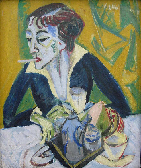 Erna With Cigarette 1915 By Ernst Ludwig Kirchner Art Reproduction from Wanford