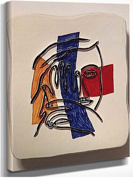 Face With Both Hands 1954 By Fernand Leger