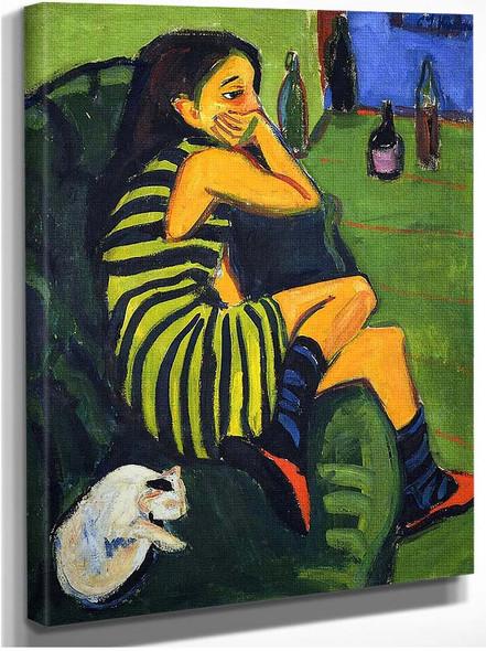 Female By Artist Ernst Ludwig Kirchner