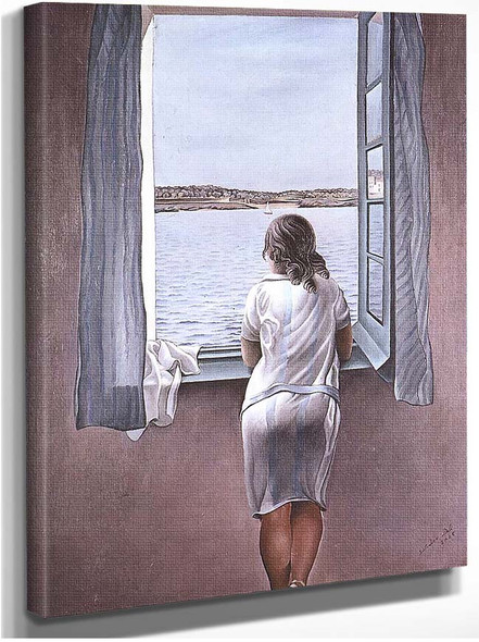 Figure At A Window By Salvador Dali