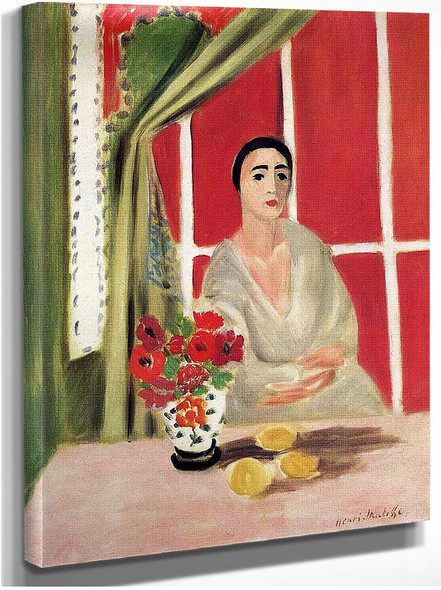 Figure At The Rideau Releve By Henri Matisse