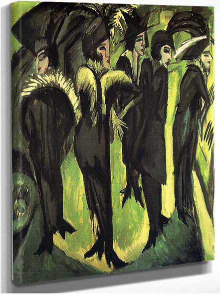 Five Women At The Street By Ernst Ludwig Kirchner