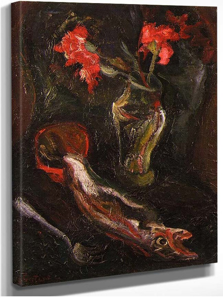 Flowers And Fish 1919 By Chaim Soutine
