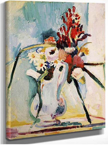 Flowers In A Pitcher 1908 By Henri Matisse
