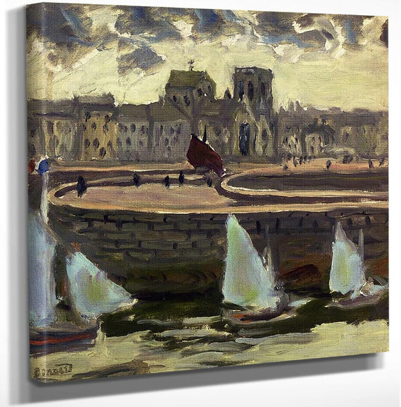 Boats In Port At Low Tide 1905 By Pierre Bonnard Art Reproduction from Wanford.