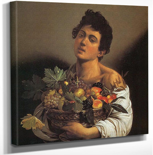 Boy With A Basket Of Fruit by Caravaggio Art Reproduction from Wanford.