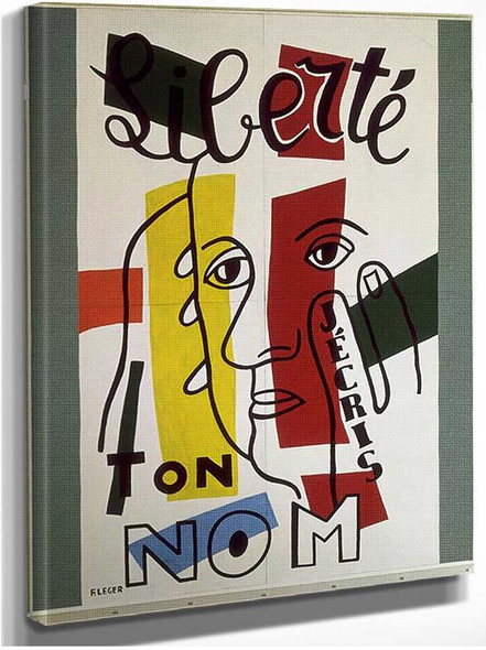 Freedom I Write Your Name 1953 By Fernand Leger