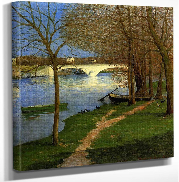 Bridge Over The Loire By Maxime Maufra Art Reproduction from Wanford.