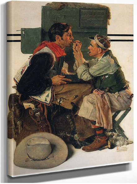 Gary Cooper As The Texan 1930 By Norman Rockwell