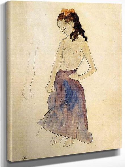 Girl With A Yellow Headband 1909 By Oskar Kokoschka