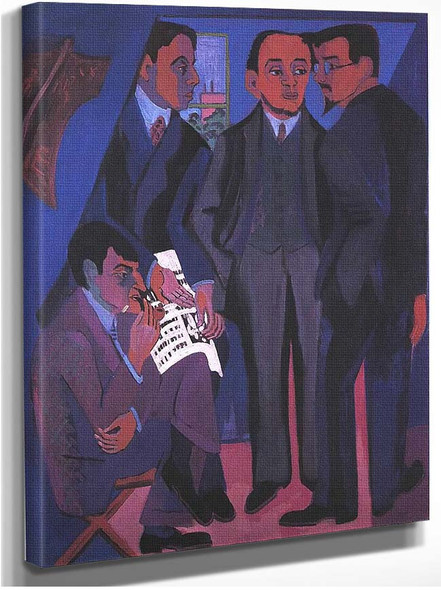 Group Of Artists 1927 By Ernst Ludwig Kirchner