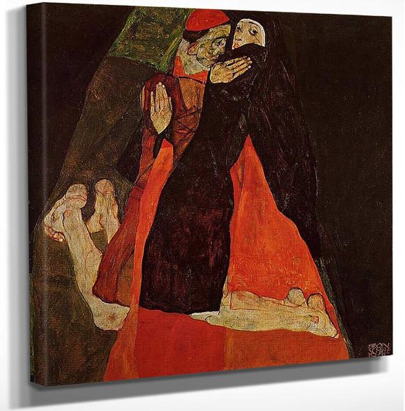 Cardinal And Nun Caress 1912 By Egon Schiele Art Reproduction from Wanford.