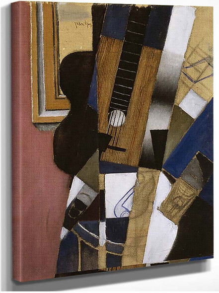 Guitar And Pipe 1913 By Juan Gris