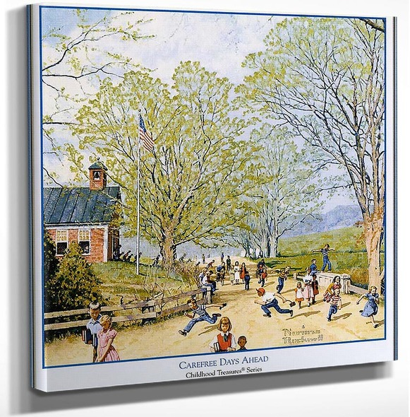 Carefree Days Ahead By Norman Rockwell Art Reproduction from Wanford.