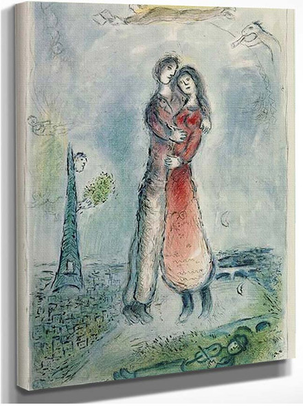 Happiness 1980 By Marc Chagall
