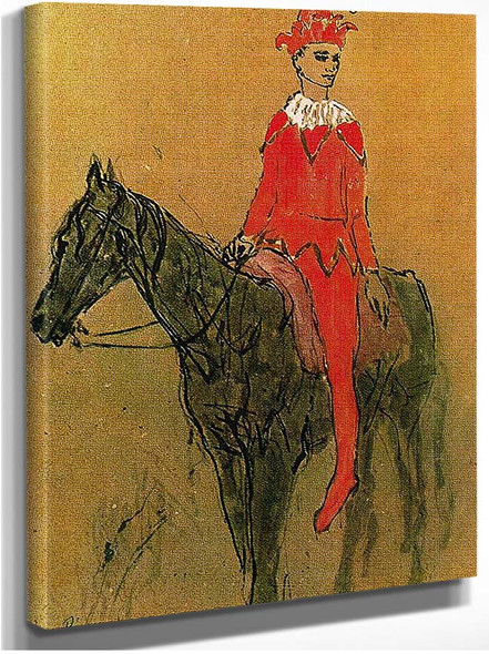 Harlequin On The Horseback 1905 By Pablo Picasso