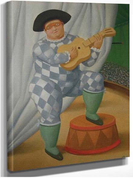 Harlequin With Guitar By Fernando Botero