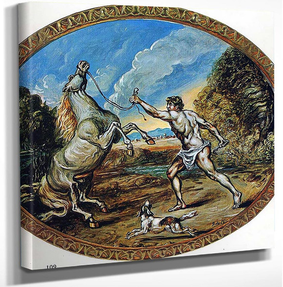 Castor And His Horse By Giorgio De Chirico Art Reproduction from Wanford.
