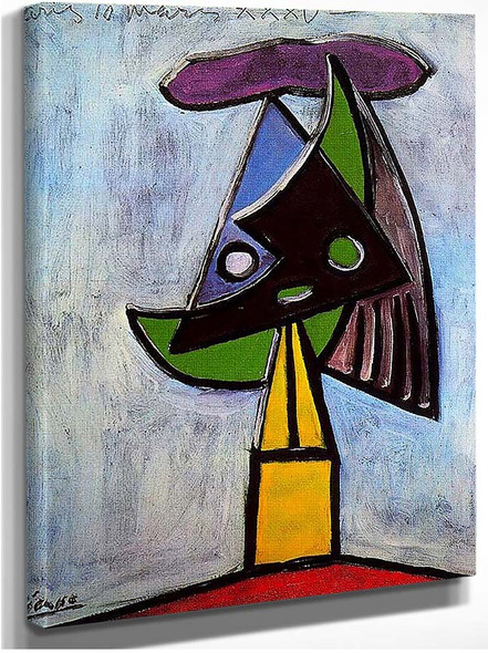 Head Of A Woman Olga Picasso 1935 By Pablo Picasso