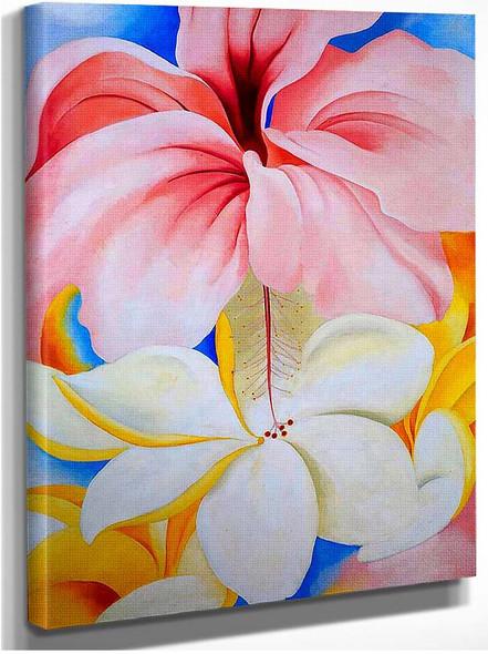 Hibiscus With Plumeria By Georgia O Keeffe