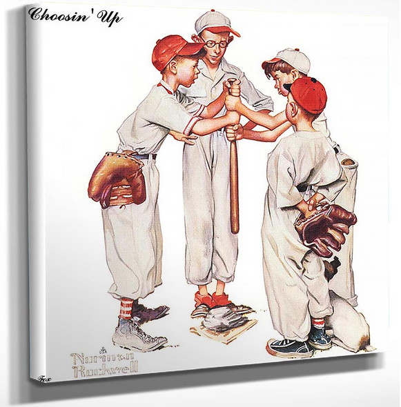 Choosin Up By Norman Rockwell Art Reproduction from Wanford.