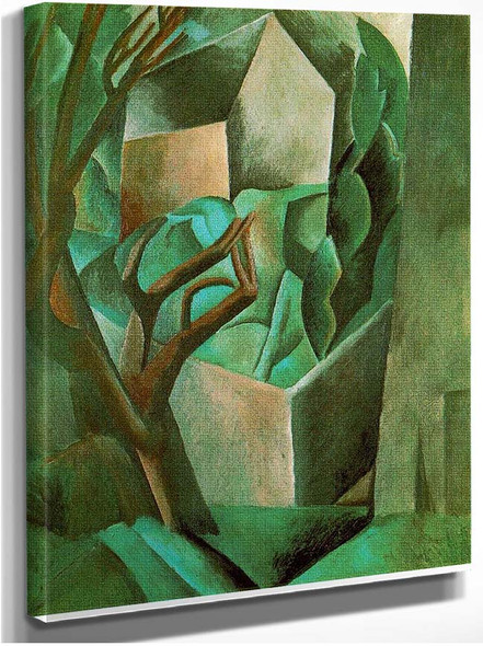 House In The Garden 1908 By Pablo Picasso