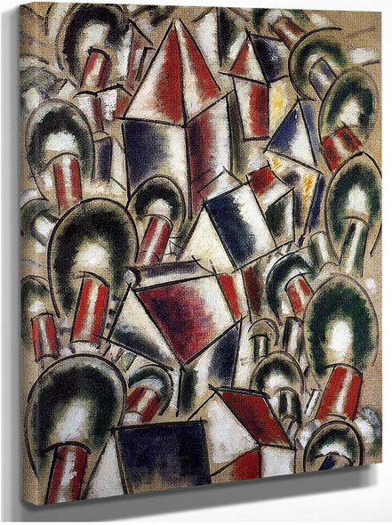 Houses In The Trees Landscape N 3 1914 By Fernand Leger