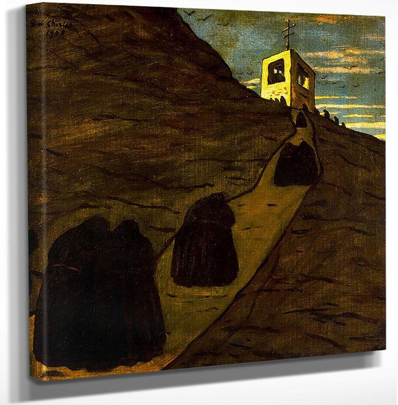 Climb To The Monastery By Giorgio De Chirico Art Reproduction from Wanford.