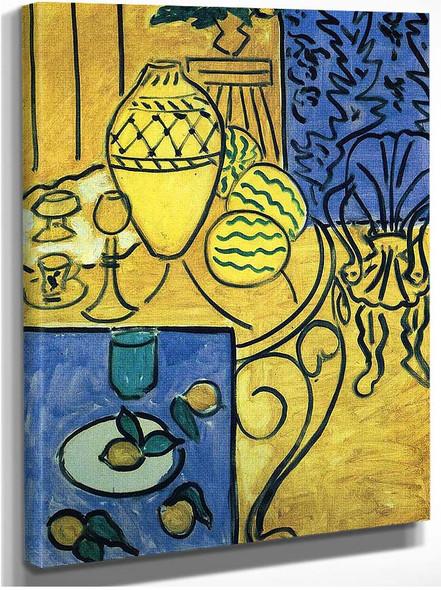 Interior In Yellow 1946 By Henri Matisse