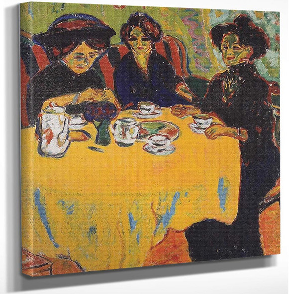 Coffee Drinking Women By Ernst Ludwig Kirchner Art Reproduction from Wanford.