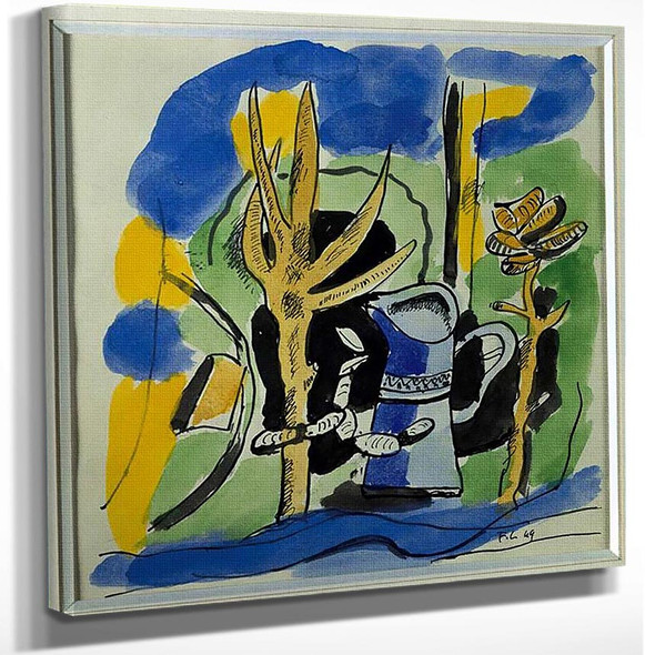 Composition At Pitcher 1918 By Fernand Leger Art Reproduction from Wanford.
