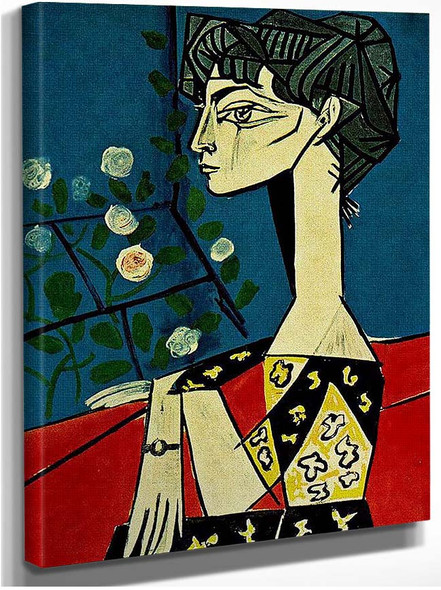 Jacqueline With Flowers 1954 By Pablo Picasso
