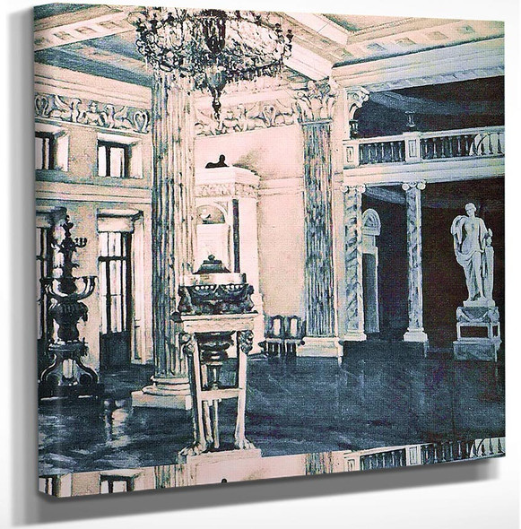 Concert Hall Of The Ostankino Palace 1950 By Konstantin Yuon Art Reproduction from Wanford.