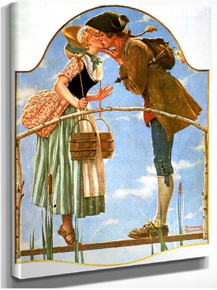 Kiss By Norman Rockwell