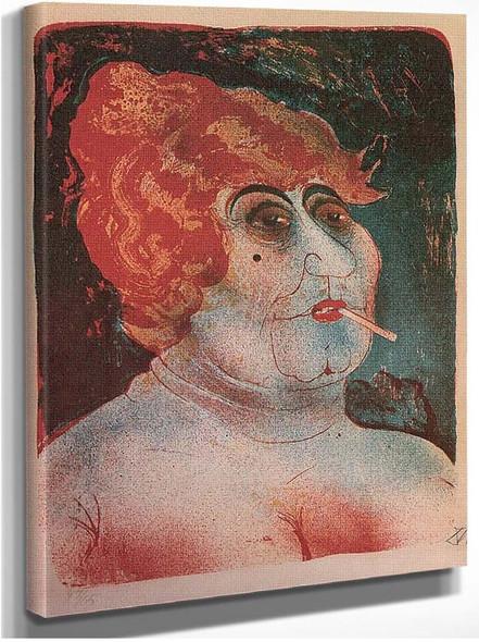 Kupplerin A Woman Smoking By Otto Dix