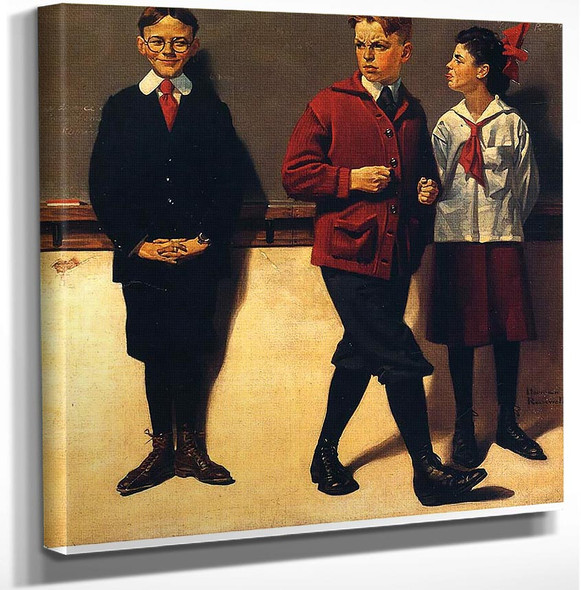 Cousin Reginald Spells Peloponnesus By Norman Rockwell Art Reproduction from Wanford.